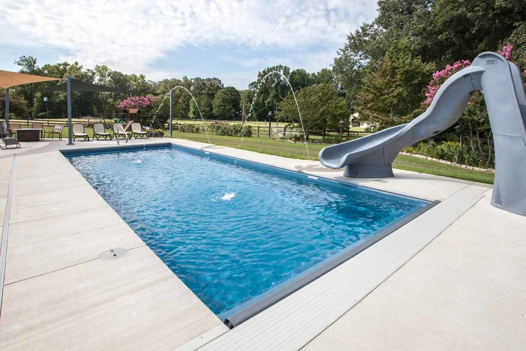 Lake Shore Fiberglass Pool