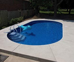 Oval Shaped Swimming Pool