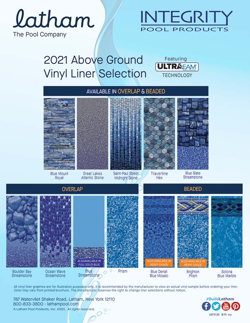 Integrity Above Ground Liners Sell Sheet 2021