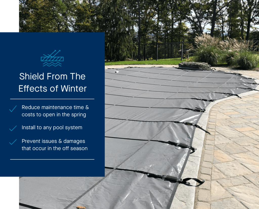 Latham Solid & Mesh Safety Covers inground pool