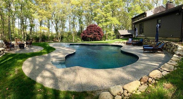 Vinyl Liner Pool   Lagoon in Natural Grey by Dartmouth Pools (ME)