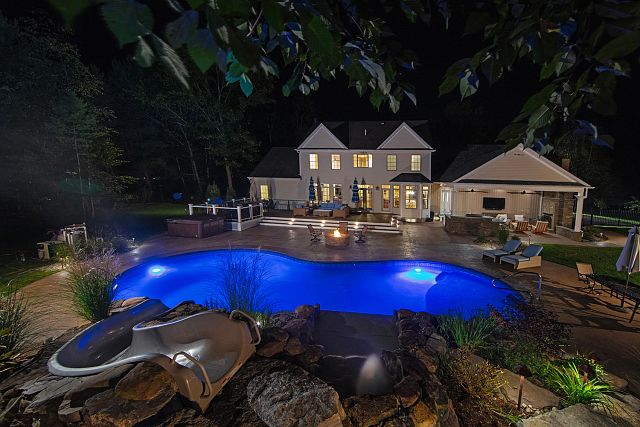 Vinyl Liner Pool   Mountain Pond in Oxford / Electric Aquarius by Concord Pools and Spas (NY)