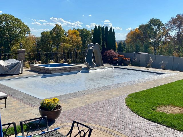 Vinyl Liner Pool | Undertrack Automatic Safety Cover by Pristine Pools (PA)